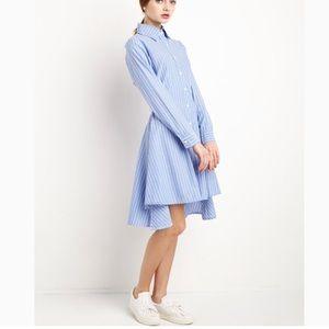 Poplin Striped Shirt Dress!